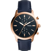Fossil Men's Townsman Chronograph Leather Watch