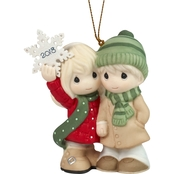 Precious Moments Our First Christmas Together 2018 Couple Ornament