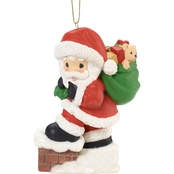 Precious Moments Santa Ornament