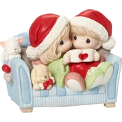 Precious Moments Couple on the Couch Figurine