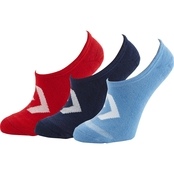 Converse Color Contrast Star Chevron Ultra Low Hidden Sock Liners 3 Pk.