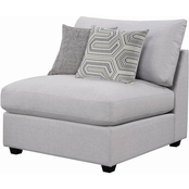 Scott Living Charlotte Modern Sectional Armless Chair