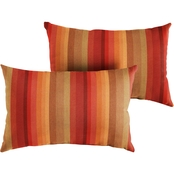 Mozaic Sunbrella Astoria Lagoon Stripe Knife Edge 2 Pc. Pillow Set