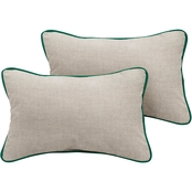 Mozaic Co. Sunbrella Cast Silver Canvas Corded Pillow 2 Pk.