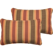Mozaic Co. Sunbrella Dimone Sequoia Corded Pillow 2 Pk.