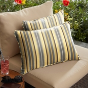 Mozaic Co. Sunbrella Foster Metallic Corded Pillow 2 Pk.
