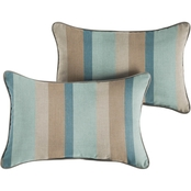 Mozaic Co. Sunbrella Gateway Mist Stripe Pillow 2 Pk.