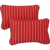 Mozaic Co. Sunbrella Harwood Crimson Corded Pillow 2 Pk.