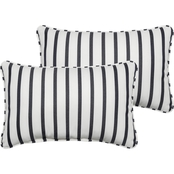 Mozaic Co. Sunbrella Lido Indigo Corded Pillow 2 Pk.