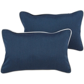 Mozaic Co. Sunbrella Spectrum Indigo Corded Pillow 2 Pk.