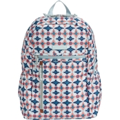 Vera Bradley Lighten Up Study Hall Backpack, Water Geo