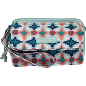 Vera Bradley Lighten Up RFID All in One Crossbody, Water Geo