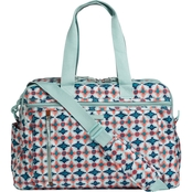 Vera Bradley Lighten Up Weekender Travel Bag, Water Geo