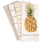 KAF Home 4 Pc. Pineapple Kitchen Dish Towel Set