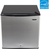 Whynter Stainless Steel Energy Star 1.1 cu. ft. Upright Freezer with Lock