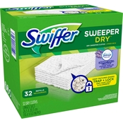 Swiffer Sweeper Dry Lavender Vanilla & Comfort Dry Sweeping Cloths, 32 ct.