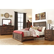 Signature Design by Ashley Quinden Panel Bed 5 pc. Set