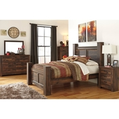 Signature Design by Ashley Quinden Poster Bed 5 pc. Set