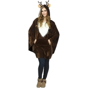 Morris Costumes Women's Reindeer Poncho Costume