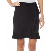 Kensie Stretch Suede Skirt