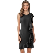 Kensie Sleek Stretch Crepe Dress