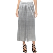 Kensie Pleated Shine Midi Pants