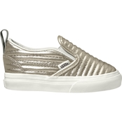 Vans Toddler Girls Metallic Leather Slip On Shoes