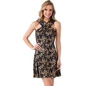 Michael Kors Scattered Blossom Cross Neck Dress