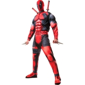 Morris Costumes Men's Deadpool Muscle Standard Costume