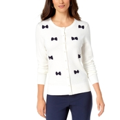 Charter Club Bow Embellished Cardigan