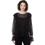 Kensie Chantilly Lace Top