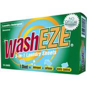 WashEZE 3 In 1 Unscented Laundry Sheets