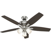Hunter Newsome 3 Light Ceiling Fan 52 in.