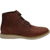 TOMS Porter Leather Water Resistant Brown Boots