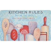 Mohawk Home Rules with Utensils 18 x 30 In Kitchen Mat