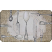Mohawk Home Silverware Oval 18 x 30 In Kitchen Mat