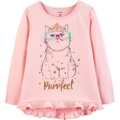 Carter's Toddler Girls Purrfect Cat Hi-Lo Matchtastic Tee
