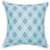 Sheffield Home Ellie Trellis Print Outdoor Pillow with Fringe
