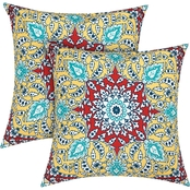 Sheffield Home Paisley Print Outdoor Pillows 2 pk.