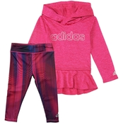 adidas Infant Girls Melange Printed Tight Set