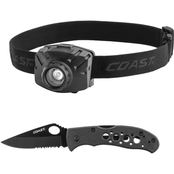Coast FL70 + BX312 Headlamp/Knife Combo Pack