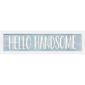 GreenBox Art Framed Hello Handsome Metallic Embellished Canvas Wall Art 22 x 6