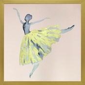 GreenBox Art Framed Watercolor Ballerina Embellished Canvas Wall Art 19 x 19