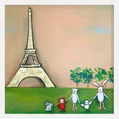 GreenBox Art Framed We're in Paris Metallic Embellished Canvas Wall Art 17 x 17
