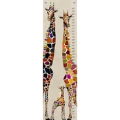 Greenbox Art 12 x 42 Giraffe Family Growth Chart Canvas Wall Art