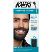 Just for Men Mustache and Beard Coloring for Gray Hair with Brush Included