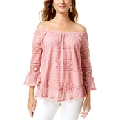 Style & Co. Off-The-Shoulder Lace Top