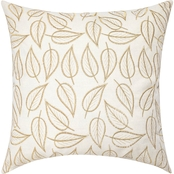 Sheffield Home Metallic Leaves Pillow