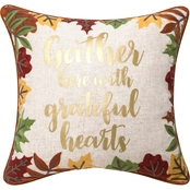 Sheffield Home Gather Here Leaves Pillow