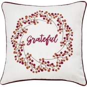 Sheffield Home Grateful Embroidered Pillow